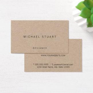 Papier d'emballage minimaliste simple cartes de visite