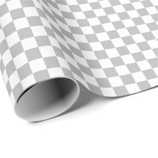 Papier d'emballage moyen gris et de blanc de papier cadeau