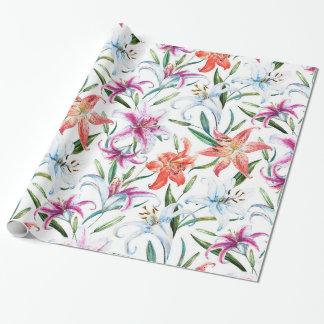 Papier d'emballage, tropiques (blancs) papier cadeau