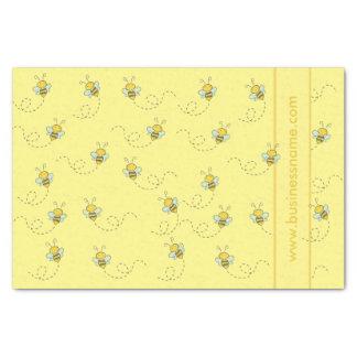 Papier Mousseline Abeille illustrée de miel