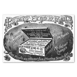 Papier Mousseline Annonce vintage étrange de pomme de terre