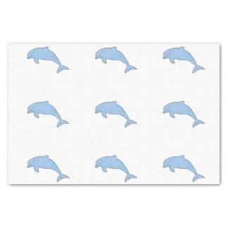 Papier Mousseline Approvisionnements bleus de partie de dauphins
