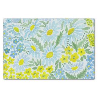Papier Mousseline Aquarelle. Les fleurs du champ. Camomille