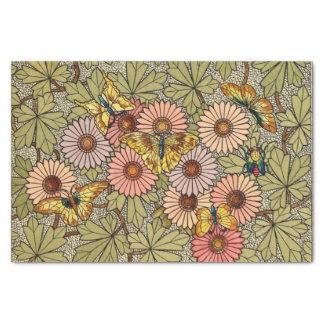 Papier Mousseline Art floral de papillon de mosaïque de style en