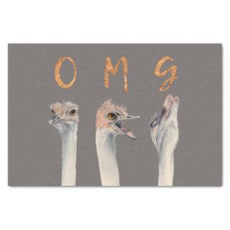 Papier Mousseline Autruches d'OMG