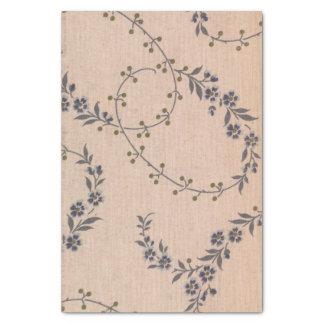Papier Mousseline Baies pourpres d'or de vignes de fleur de lavande