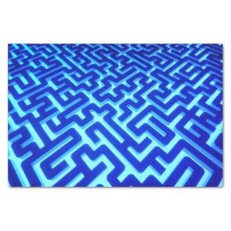 Papier Mousseline Bleu de labyrinthe