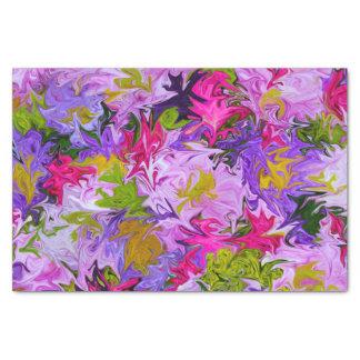 Papier Mousseline Bouquet de conception florale d'art abstrait de