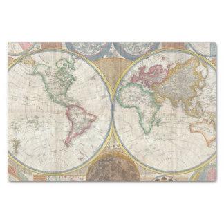 Papier Mousseline Carte vintage du monde