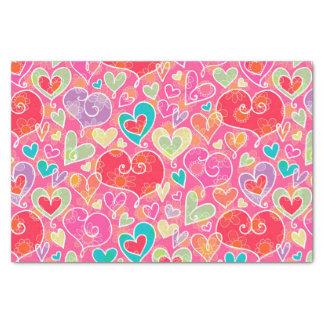 Papier Mousseline Coeurs et fleurs de Saint-Valentin