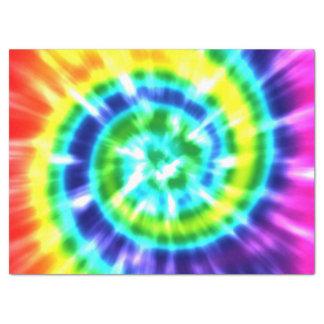 Papier Mousseline Colorant Boho coloré de cravate de paix de hippie