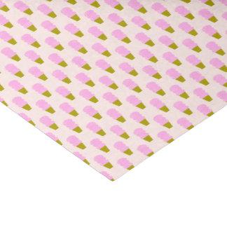 Papier Mousseline Cornets de crème glacée roses