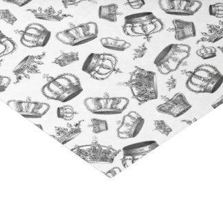 Papier Mousseline Couronnes royales gravées par cru