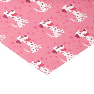 Papier Mousseline Dalmate rose mignon de Valentine de coeurs