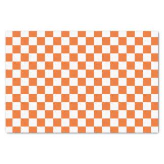 Papier Mousseline Damier orange