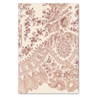 Papier Mousseline Dentelle florale rose avec des roses