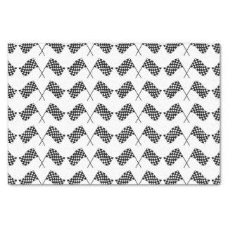 Papier Mousseline Drapeaux Checkered croisés