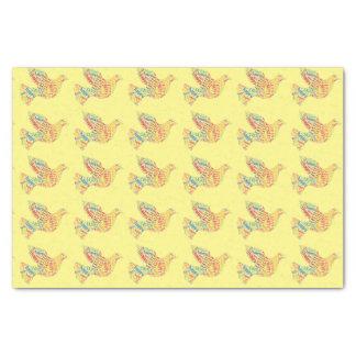 Papier Mousseline Élégant coloré de Pâques de typographie heureuse