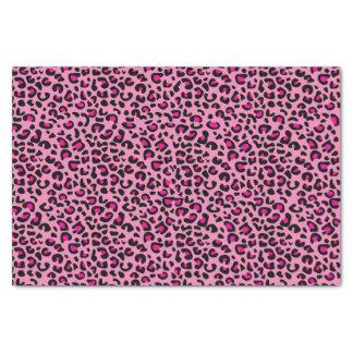 Papier Mousseline Empreinte de léopard rose et noir
