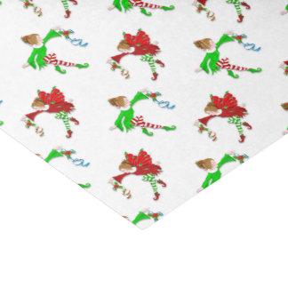 Papier Mousseline Fées de Noël avec le gui