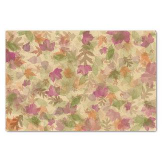 Papier Mousseline Feuille d'Automne-Chute en couleurs