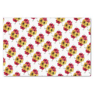 Papier Mousseline Fleurs de ketmie