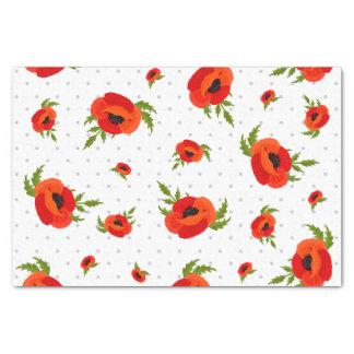 Papier Mousseline Fleurs de pavot