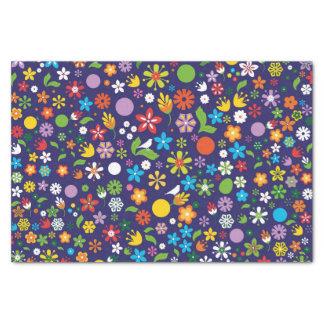 Papier Mousseline Fleurs de ressort