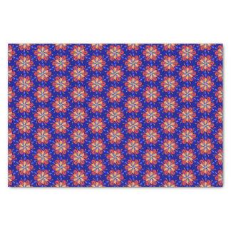 Papier Mousseline Fleurs de Starburst en rouge et bleu audacieux