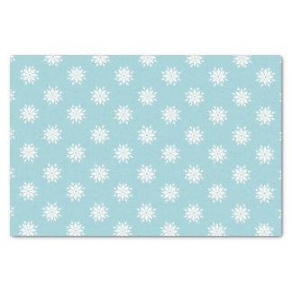 Papier Mousseline Flocons de neige de blanc de Noël de bleu glacier