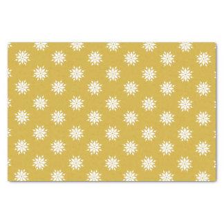 Papier Mousseline Flocons de neige de blanc de Noël d'or