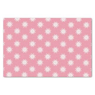 Papier Mousseline Flocons de neige roses de blanc de Noël