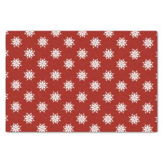 Papier Mousseline Flocons de neige rouges de blanc de Noël