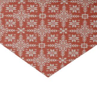 Papier Mousseline Flocons de neige rouges et blancs de chandail de