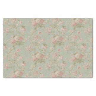 Papier Mousseline Floral vintage élégant s'est levé
