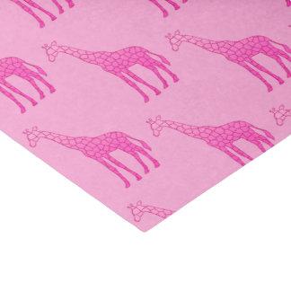 Papier Mousseline Girafe géométrique moderne, fuchsia et rose-clair