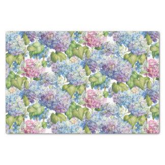 Papier Mousseline Hortensias dans le motif de fleur