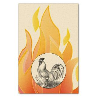 Papier Mousseline Illustration vintage de coq du feu