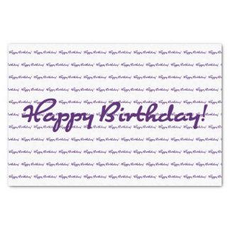 Papier Mousseline Joyeux anniversaire ! Manuscrit décontracté