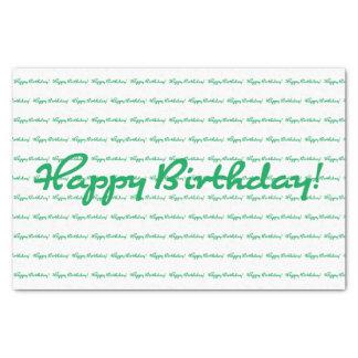 Papier Mousseline Joyeux anniversaire ! Répétition décontractée