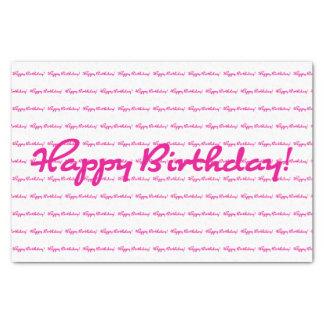 Papier Mousseline Joyeux anniversaire ! Répétition décontractée de