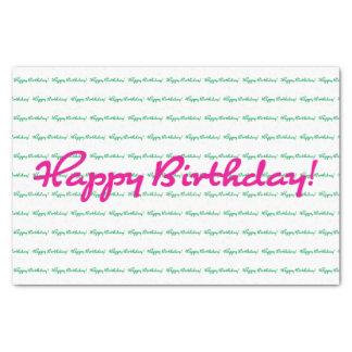 Papier Mousseline Joyeux anniversaire ! Vert de très bon goût de