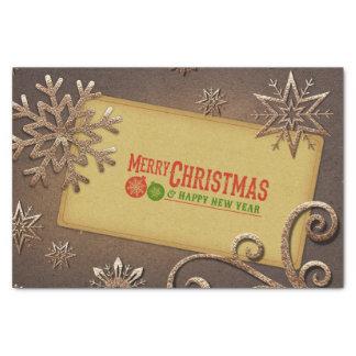 Papier Mousseline Joyeux Noël et bonne année