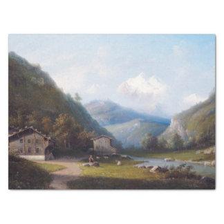 Papier Mousseline La vigne de montagne d'Alpes de région sauvage