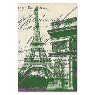 Papier Mousseline le Français scripts la voûte de Tour Eiffel de