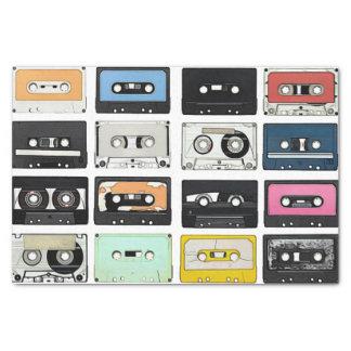 Papier Mousseline Le rétro mélange vintage de cassette attache du