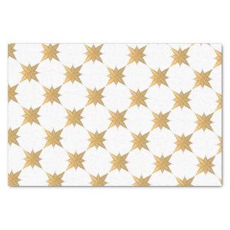 Papier Mousseline L'étoile esquissée par Noël d'or complète le