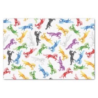 Papier Mousseline Licorne colorée de motif