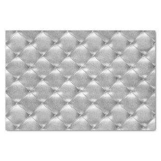 Papier Mousseline Lux en cuir tufté métallique fascinant VIP de gris