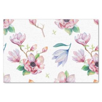 Papier Mousseline Magnolia d'aquarelle